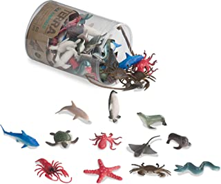 Terra by Battat – Sea Animals – Assorted Miniature Sea Animals, Fish Toys, & Cake Toppers For Kids 3+ (60 Pc)