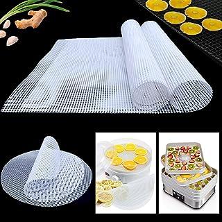YWQ 8 Pièces Feuilles de Déshydrateur Carrées en Silicone,Anti-adhésif Tapis de Silicone, Tapis Déshydrateur Antiadhésifs ...
