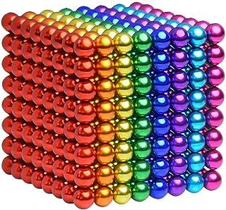 MYYAGEW 5MM 216 Pieces Colored Magnetic Sculpture Building Blocks Office Desk Toys Stress Relief Magnet Toys Fidget Gadget Toys 8 Colors