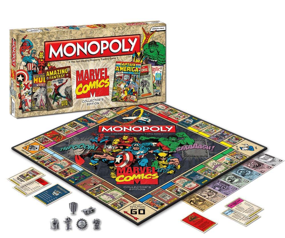 Marvel Comics Monopoly Board Game: Marvel Comics Monopoly: Amazon.es: Juguetes y juegos