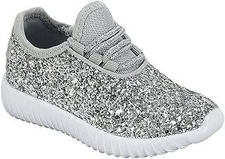 Lace up Rock Glitter Fashion Sneaker For Children/Girl/Kids