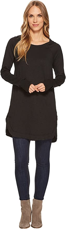 Mod-o-doc - Heavier Slub Jersey Long Sleeve Hooded Tunic with Rib Trim