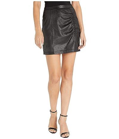 Free People Rumi Ruched Mini Skirt (Black) Women
