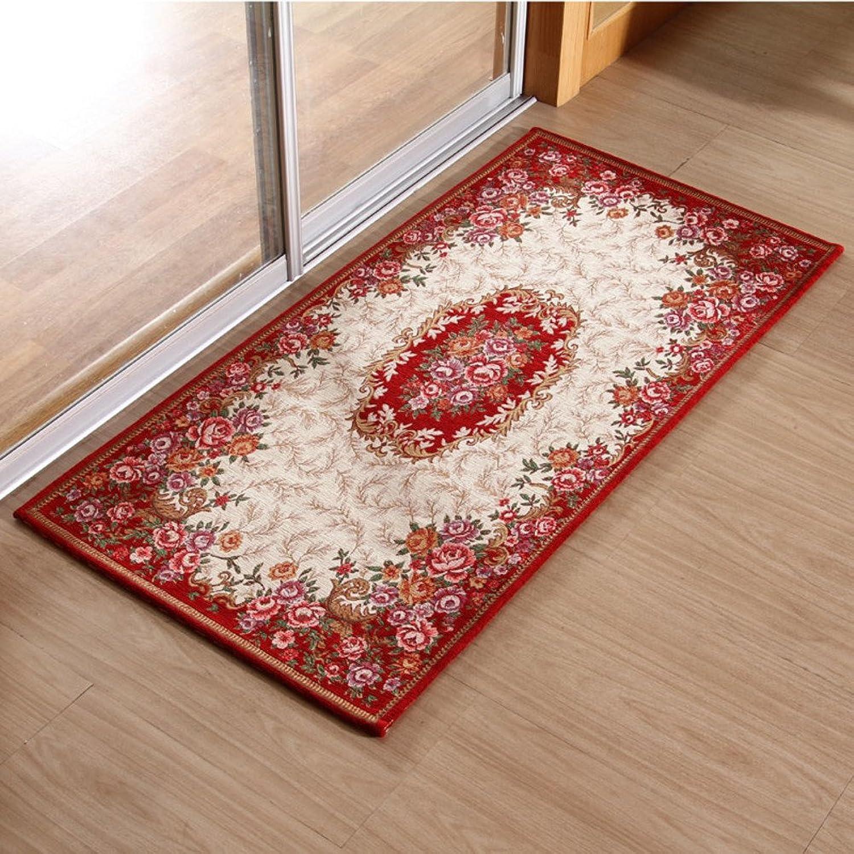 European-Style Floor mats Door mats Living Room Bedroom mat-J 70x140cm(28x55inch)