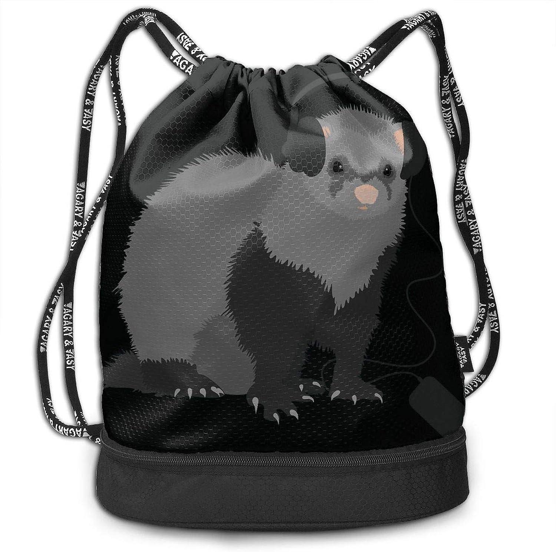 698800852 Print Drawstring Backpack Funny Music Loving Ferret Portable Shoulder Bags  Travel Sport Gym Bag Yoga Runner shoes Bags Daypack 3D nsnrjf2339-Sporting  goods