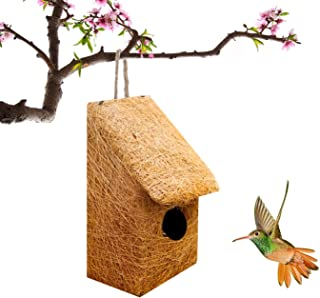 LIVEONCE Slide House Purely Handmade Love Birds/Sparrow/Small Birds, Material Type -Coir, Color -Brown, Size (L 12.5 x W 1...
