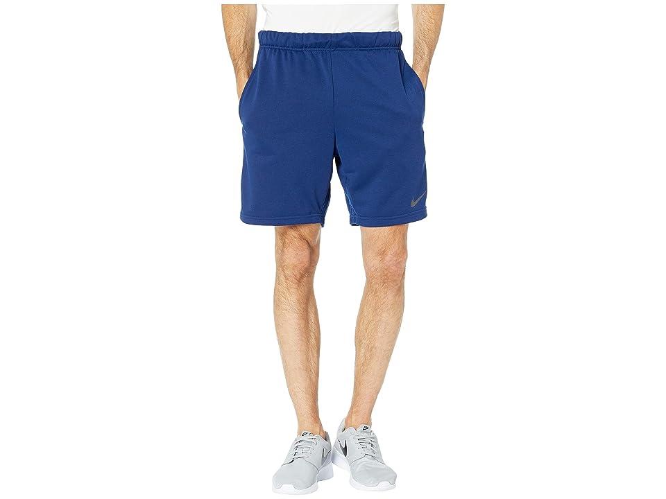 Nike Dry Fleece Hybrid Shorts (Blue Void/Black) Men