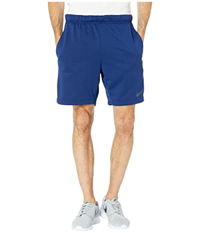 Nike Dry Fleece Hybrid Shorts (Blue Void/Black) Men