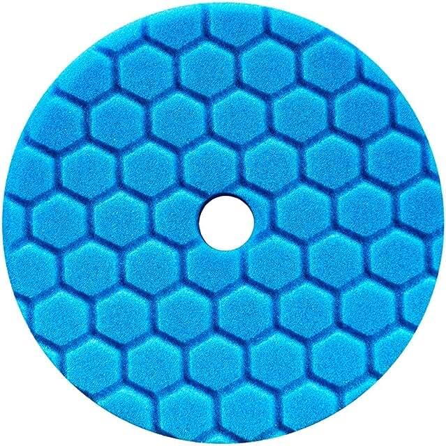Blue foam finishing pad.