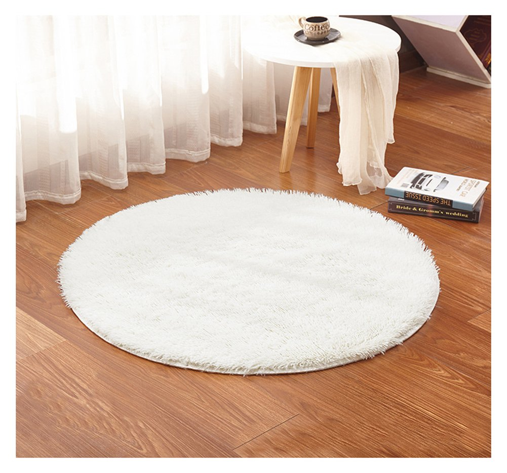 23.7x23.7 inches USTIDE Round Red Girls Rug Soft Thicken Living Room//Bathroom Mat