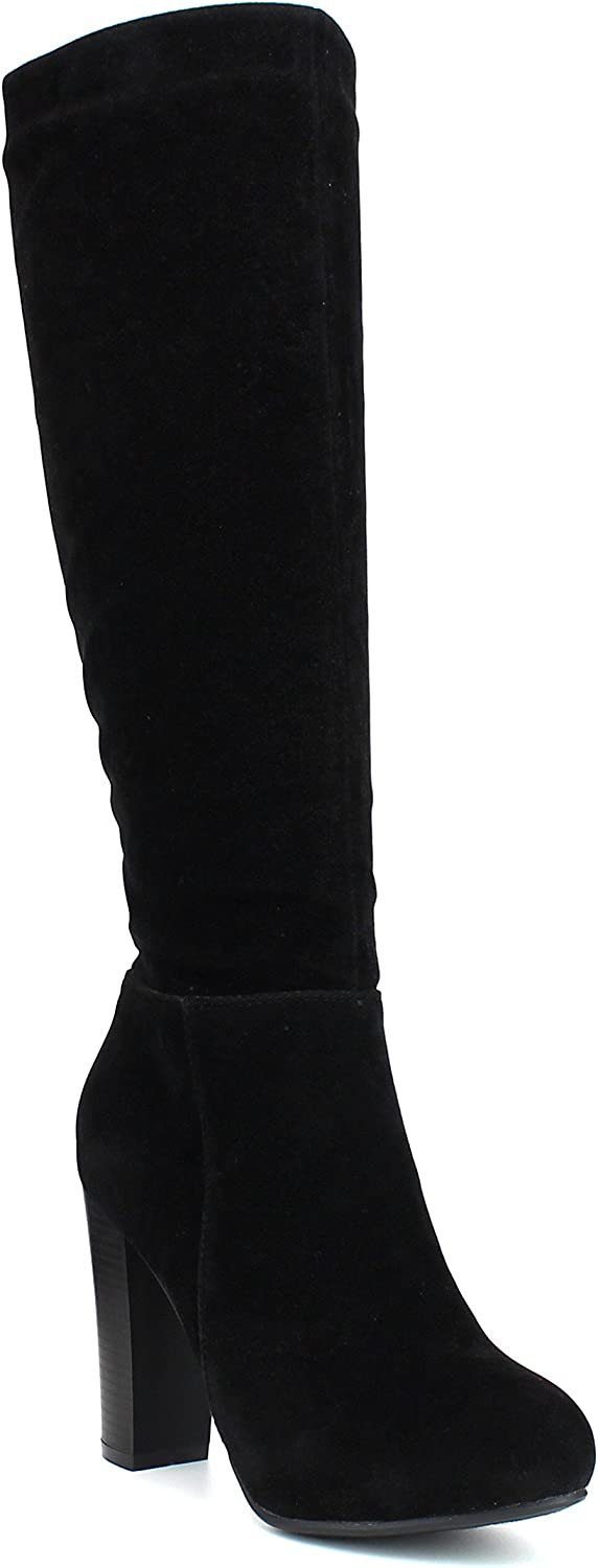WestCoast Women's Knee High Boots Fashion Chunky High Heel Dress Boots Riding Long Boots