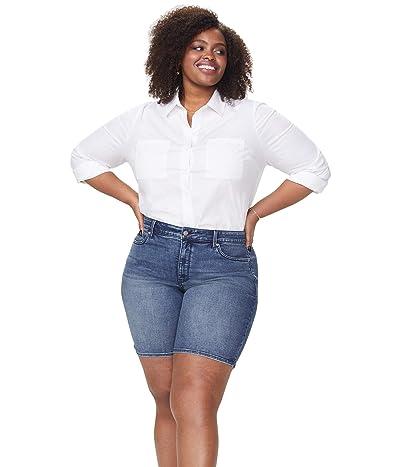 NYDJ Plus Size Plus Size Ella Shorts with Side Slits in Lazaro (Lazaro) Women