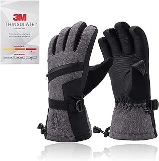 Gonex Ski Gloves for Men Women Boys Youth, -30℉ Waterproof Touchscreen Winter Snow Gloves