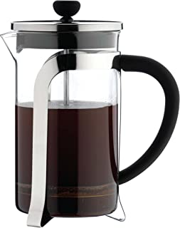 Café Olé Grunwerg MODE kaffebryggare i glas – 350 ML, 3 mockakoppar/Demikopp KM-03C krom 195 x 49 x 10 cm