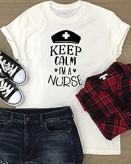 Nurse T-shirt Funny Women's Shirt Mother's Day Gift Keep Calm