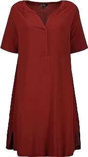 Ulla Popken Women's Plus Size Strappy Side Seam Dress 716181
