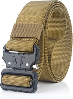 Tactical Belt, Military Nylon Web Belt with Heavy-Duty Quick-Release Metal Buckle, Rigger Holster Utility Belt Men/Women