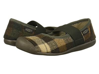 Keen Sienna Mary Jane Plaid (Brown/Climbing Ivy) Women