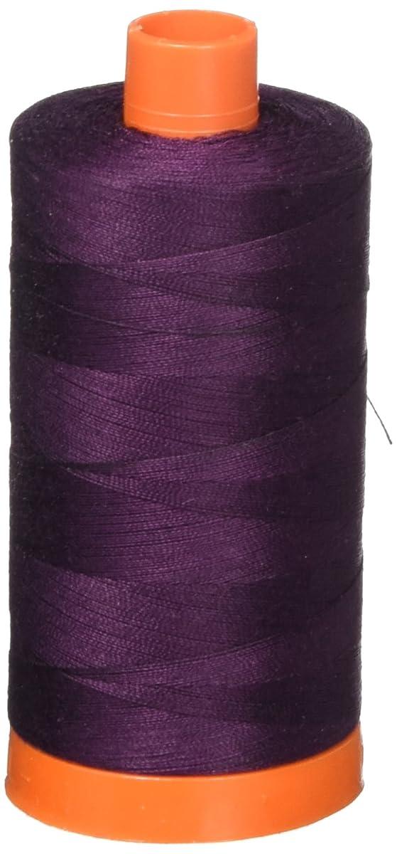 Aurifil Mako Cotton Thread Solid 50wt 1422yds Very Dark Eggplant