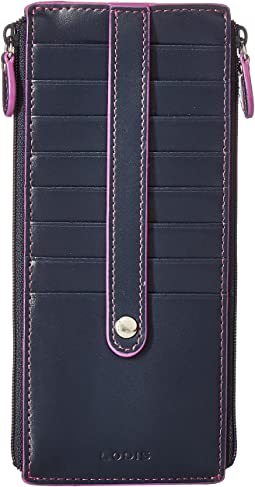 Lodis Accessories - Audrey RFID Under Lock & Key Double Zip Card Case