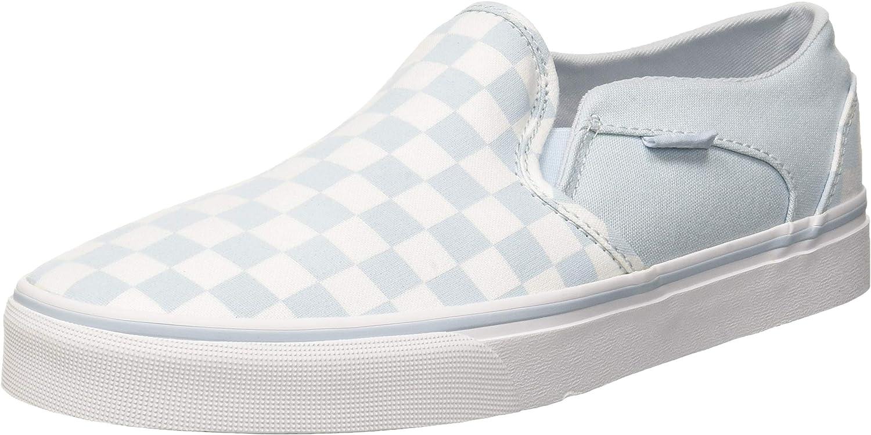 Vans Asher Classic Checkerboard, Baskets Enfiler Femme : Amazon.fr ...