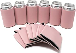 TahoeBay 25 Can Sleeves for Standard Cans Blank Poly Foam Beer Insulator Coolers (Blush, 25)