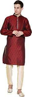 Men's Tunic Kurta Pajama Set Indian Traditional Wear
