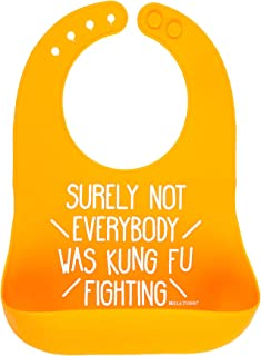 Bella Tunno Wonder Bib, Kung Fu Fighting, Orange