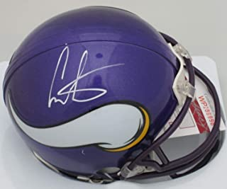 Vikings Chris Carter Autographed Mini Helmet Signed - Hof 2013-8 X Pb- JSA Certified