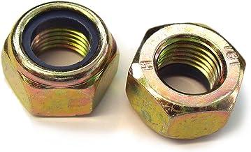 M7 X 0.75 Metric Fine Zinc Plated Half Lock Nuts Brass or Steel