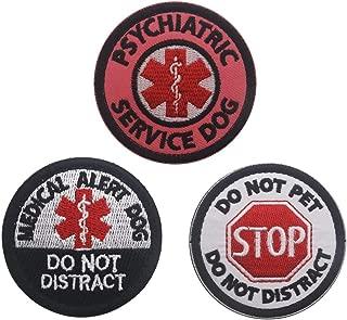 Bundle 3 Pieces Medical Alert Patch,Psychiatric Service Dog,Do Not Pet Patch Fastener Hook & Loop Patch for Pet Harnesses