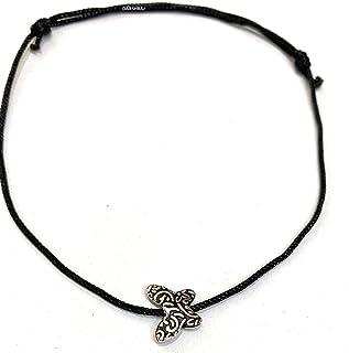 DARSHRAJ JEWELLERS 925 Sterling Silver(Chandi) Butterfly Designer Black Thread Use For Baby Girls, Girls, Women Anklet, Br...