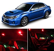 SCITOO LED Interior Lights Package Kit 8 Pack for 2004-2014 Subaru Impreza WRX STI,Red Light