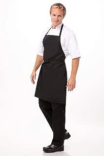 Chef Works Bib Apron, Black, One Size
