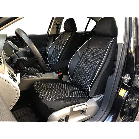 Maß Sitzbezüge Kompatibel Mit Volvo Xc60 1 Fahrer Beifahrer Ab 2008 2017 Farbnummer Pl403 Auto