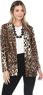 Jostar Women's Stretchy Drape Jacket Long Sleeve No Shoulder Pad