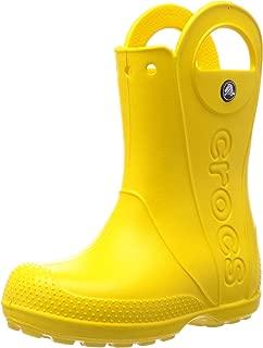 Crocs Kids Handle It Rain Boot Yellow Size UK 13 EU 30/31