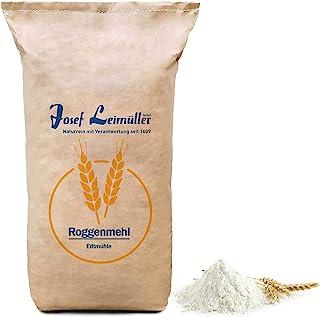 Roggenmehl Type 1150 DE 960 AT Leimüller Premium Mehl | 100% Naturrein ohne Zusatzstoffe | Ideal als Brotmehl für Roggenbrot | Bäckereiqualität aus Österreich 25 kg