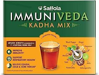 Saffola Immuniveda Kadha Mix Ayurvedic Herbal Drink - 80g (20 Sachets x 4g)