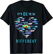 Fish It's Ok To Be Different Autism Shirt Fish Autism Shirt