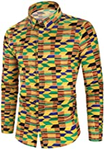 KCatsy Men's Autumn and Winter Casual Fashion Funny Print Long-Sleeved Shirt