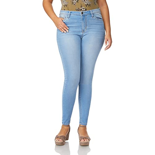 842499e009 WallFlower Women s Juniors Plus Size High Rise Irresistible Denim Jegging