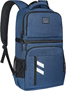 FORICH Insulated Cooler Backpack Double Deck Lightweight Leak Proof Backpack Cooler Bag Soft Lunch Backpack with Cooler Co...