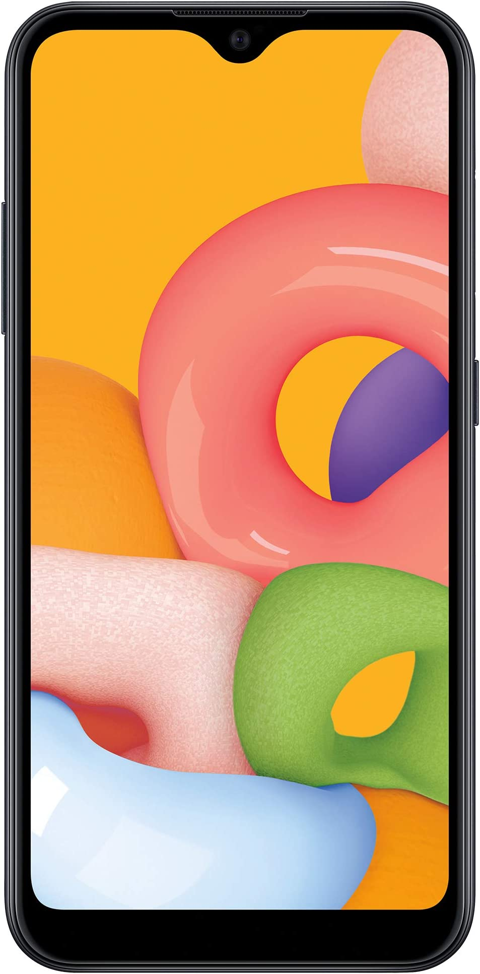 (Free $20 Airtime Activation Promotion) Net10 Samsung Galaxy A01 4G LTE Prepaid Smartphone - Black - 16GB - Sim Card Included -CDMA