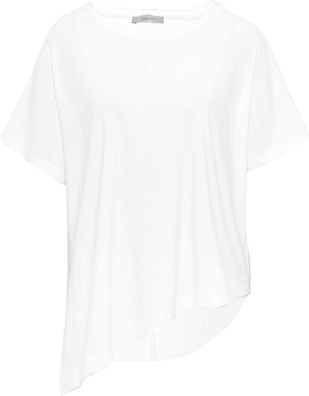 Crea Concept Women's Asymmetric Hem TShirt White