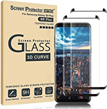 MTBD Galaxy S9 Plus Screen Protector,Full Coverage Tempered Glass[2 Pack][3D Curved] [Anti-Scratch][High Definition] Tempered Glass Screen Protector Suitable for Galaxy S9 Plus (NOT S9)