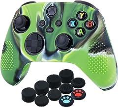 Capa de silicone YoRHa para Xbox Series X / S Controller x 1 (verde camuflagem) com apoios de polegar x 10
