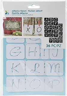 sticker letter stencils