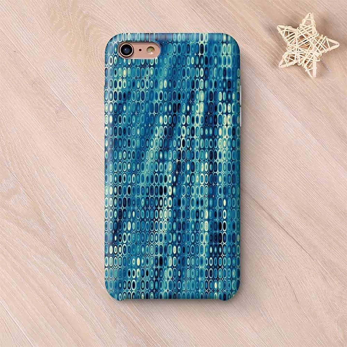 Fractal Printing Compatible with iPhone Case,Vintage Mosaic Style Little Geometric Circles on Flat Background with Artwork Compatible with iPhone 6 Plus / 6s Plus,iPhone 6 Plus / 6s Plus