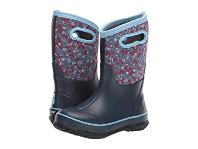 Bogs Kids Classic Freckle Flower (Toddler/Little Kid/Big Kid) (Blue Multi) Girls Shoes